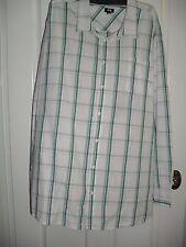 3XL  7XL COTTON BUTTON UP COOL LONG SLEEVE SHIRT GREEN WHITE TARGET BNWT $29