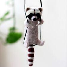 Raccoon on Rope Needle Felting Kits for Beginner 10cm Animal Felting Kit