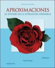 Aproximaciones : Al Estudio de la Literatura Hispánica by Teresa Valdivieso,...