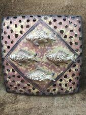 "Metal Fish Wall Art Sculpture Beach Fishing Tiki Wall Hanging 3D 8x8"""