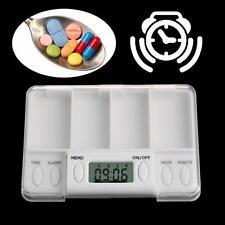 Electronic Pill Box Timer Reminder Digital Alarm Medicine Medical Case Grid