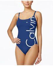 NWT Calvin Klein Swimsuit Bikini one 1 piece Size 10 Logo Atlantis atl