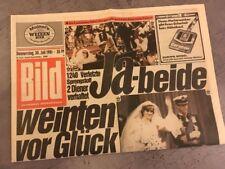 Bildzeitung BILD 30.07.1981 * Royale Hochzeit Charles & Diana * England british