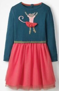 Girl's Drummer Blue Mouse Holiday Christmas Tulle Dress