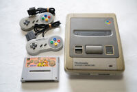 Nintendo Super Famicom Console 2 controllers tested +Genjin2 NTSC-J Japan