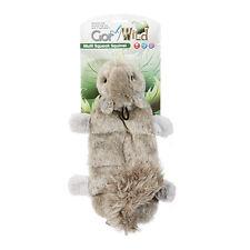 Gor Pets Wild Multi Squeak Squirrel Dog Toy | Unstuffed Flat 8 Squeaker Plush