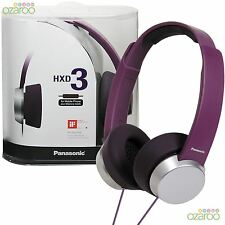 Panasonic HXD3 Fashion DJ Style On-Ear Stereo Portable Headphone +Phone Controls