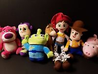 1 Set of Top Quality 7 Pcs of Toy Story Soft Plushes Woody Buzz Bear Rex More