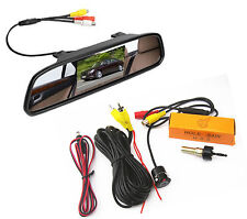 Car SUV 170° Wide Angle Backup View Camera and 4.3 Inch LCD Review Mirror Screen