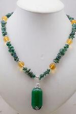 Collana Giada Verde Quarzo Smeraldo Stelle in Argento Gioielli Pietre Naturali