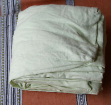 Drap housse 160 x 200 cm 100 % coton vert anis, état neuf