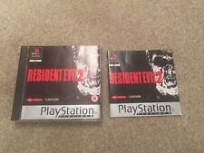Sony Playstation 1 Game * RESIDENT EVIL 2 - PLATINUM * Complete PS1 PS2 PS3