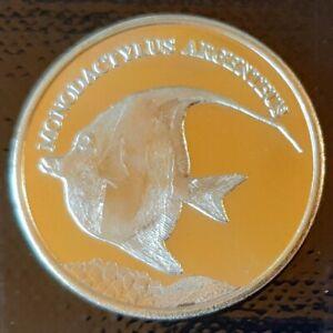 Maluku Islands 5 rupees 2019 UNC Silver Moony Fish Ship unusual coinage