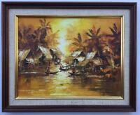 Balinese Framed Oil Painting