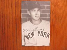 MARV   BREUER  New   York  Yankees   Signed  3 x 5  B & W  Photo (Died in -1991)