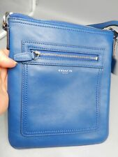 COACH Leather LEGACY blue crossbody messenger bag