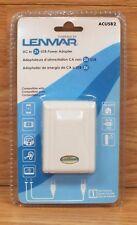 Genuine Lenmar (ACUSB2) White AC to USB Power Adapter - Powers 1-2 USB Devices