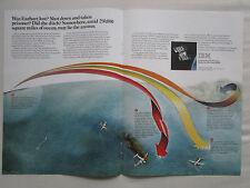 10/1981 PUB IBM AMELIA EARHART LAST FLIGHT AIR FORCE GPS SATELLITE ORIGINAL AD