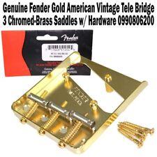 Genuine Fender 3-Saddle American Vintage Telecaster Bridge Gold 0990806200 NEW