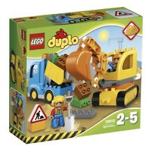 LEGO Duplo Town Toy Truck and Tracked Excavator, Large Building Bricks