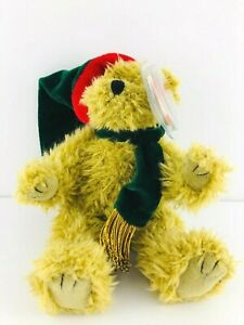 Ty Beanie Baby - SPRUCE The Holiday Bear -  (Green Gold Scarf) MWT 1993