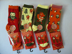 WOODLAND ADVENTURE- OWLS, FOXES 3-pk Everyday use Socks for Kids - Mixed designs