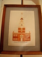NEW vintage Village Stitchery cross stitch kit Independence Hall
