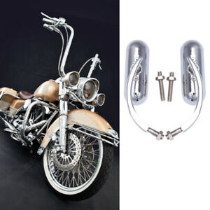 Chrome Motorcycle Mirrors For Harley Davidson Road King Street Glide Softail US
