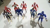 BANDAI POWER RANGERS LOT OF  8 ACTION FIGURES  1993-2001 6""