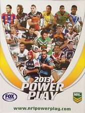 2013 NRL POWERPLAY TRADING CARD ALBUM WITH BASE SET, PENALTY, TACKLE & TRY SETS