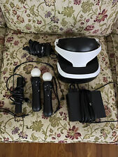 SONY PlayStation PS VR. With 2 Motion Controllers