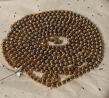 Vintage Christmas Glass Bead Garland 8mm Beads Gold 96�
