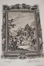 GRAVURE SUR CUIVRE BIBLE PHYSICA SACRA SCHEUCHZER SORCIERS 1735 HEUMAN PRINT