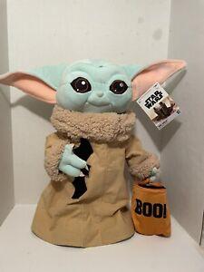 "Star Wars Disney The Mandalorian Baby Yoda Plush 17"" Grogu Halloween Greeter"