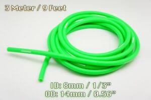 3 METRE GREEN SILICONE VACUUM HOSE AIR ENGINE BAY DRESS UP 8MM FIT MAZDA