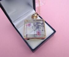 Lilac Pink Dried Flower Floating Locket Necklace