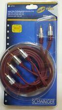 3m Schwaiger 3x Cinch Audio Video Kabel vergoldete Stecker high end NEU