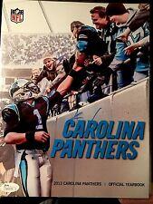 Cam Newton CAROLINA PANTHERS Signed Autographed  2013 Yearbook  JSA