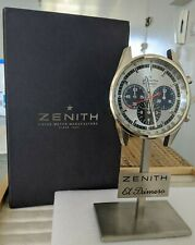 New ZENITH EL PRIMERO WATCH ÜHR MONTRE DESK CLOCK TABLE RARE GOLD CARTIER ELITE