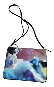 Paul Smith Ladies Dragon ANENOMES Leather Panel Cross Body Clutch Bag