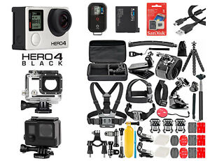 GoPro HERO 4 Black Edition Camera + 50PCS Accessory + Remote + Blackout + 8G SD
