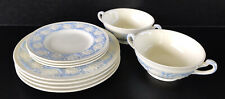 New ListingWedgwood Patrician Kingston Blue Lot 9 Pieces Salad Bread Plates Cream Bowls