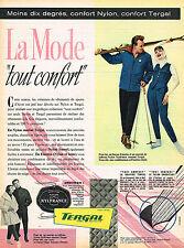 PUBLICITE ADVERTISING 045  1958  ELASTISS   vetements ski fuseaux anoraks