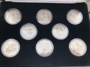 Set of 8 1994 GIBRALTAR 100th Anniversary the Return of Sherlock Holmes 1 Crown