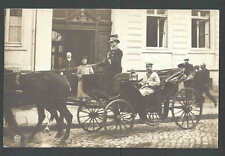 Ca 1912 Ppc* Horse Drawn Open Carriage W/Notables Mint