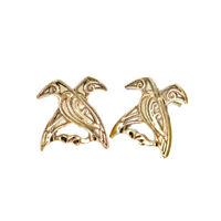 Valknut Bird Earring Antique Animal Pagan Odin's Ravens Viking Mythology Jewelry