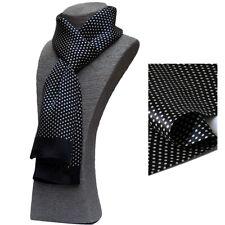 Men's 100% Silk Scarf Vintage Neckerchief Double Layer Silky Fit sensitive skin