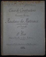 Cours de Construction - Résistance des Matériaux / 1884