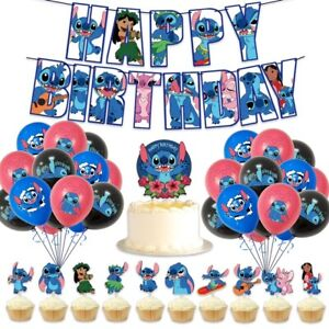 Lilo & Stitch Party Supplies Banner Balloons Birthday Party Set Decoration