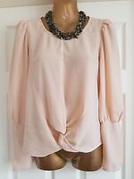 Topshop Ladies Peach Chiffon Blouse uk8 NWOT Rrp£60. Formal/Casual/Office/Work